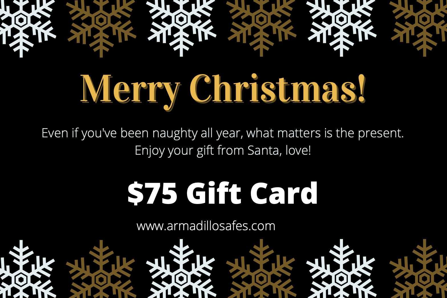 Armadillo Safe and Vault Christmas Gift Card Armadillo Safe and Vault