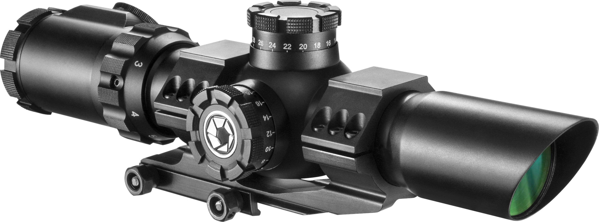 Barska 1-6 x 32mm IR SWAT-AR Tactical Rifle Scope Armadillo Safe and Vault