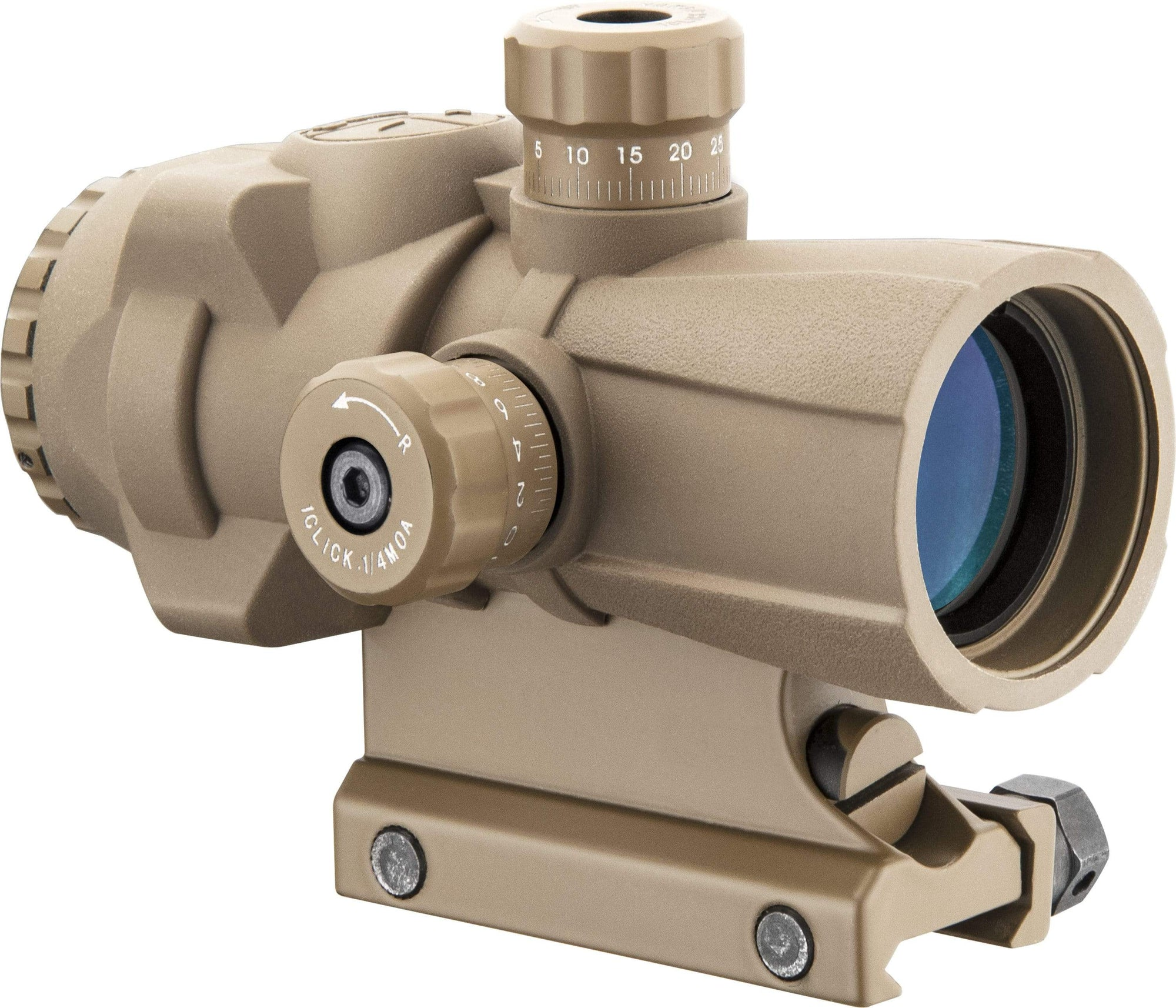 Barska 3 x 30mm AR-X PRO Prism Scope by Barska (Tan) Flat Dark Earth Armadillo Safe and Vault