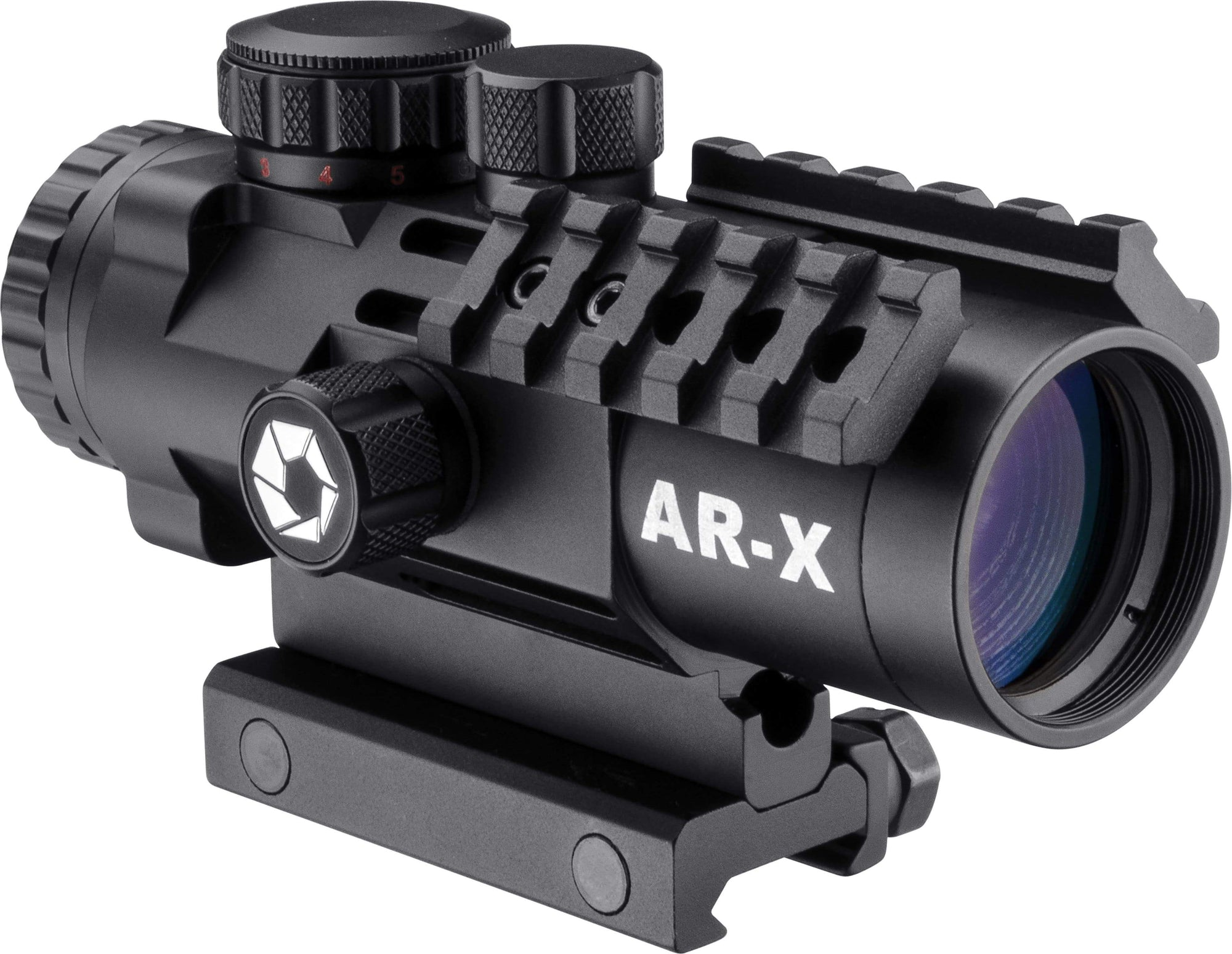 Barska 3 x 32mm IR AR-X Prism Rifle Scope w/ Mounting Rails Armadillo Safe and Vault