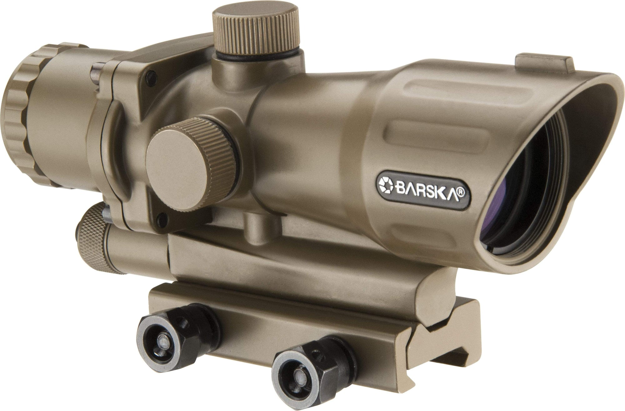 Barska 4 x 32mm IR AR-15/M-16 Electro Sight Tan (FDE) Armadillo Safe and Vault