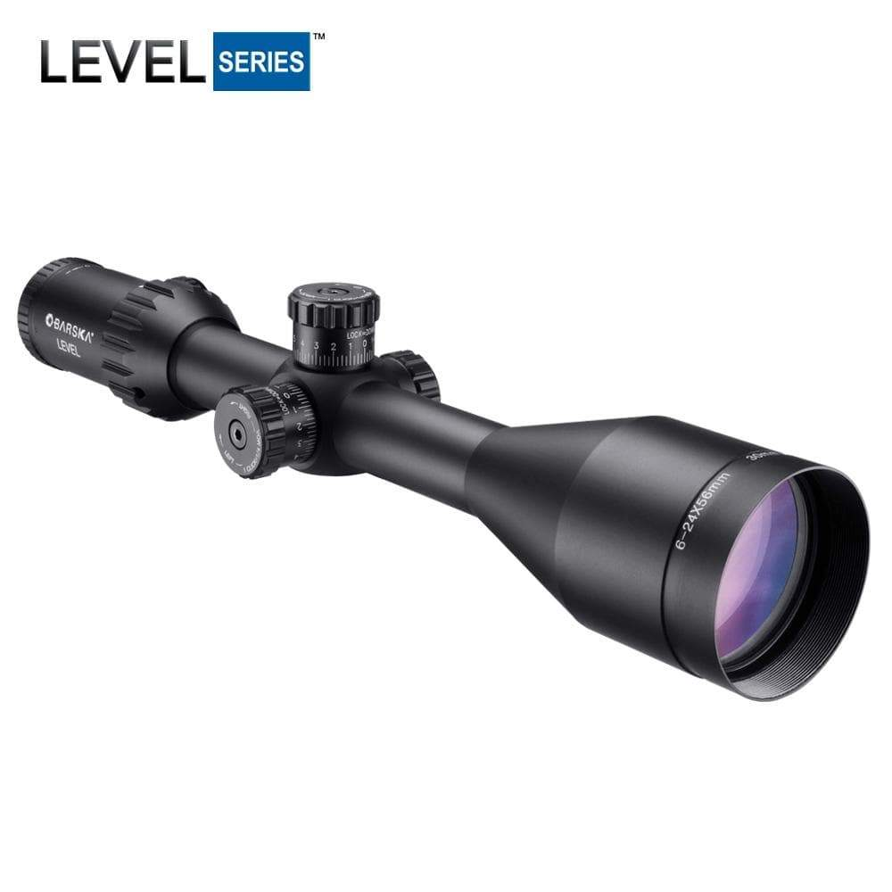 Barska 6-24x56mm Level Rifle Scope Armadillo Safe and Vault
