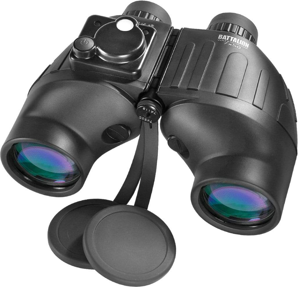 Barska 7 x 50 WP Battalion Range Finding Reticle w/ Compass Binoculars Armadillo Safe and Vault