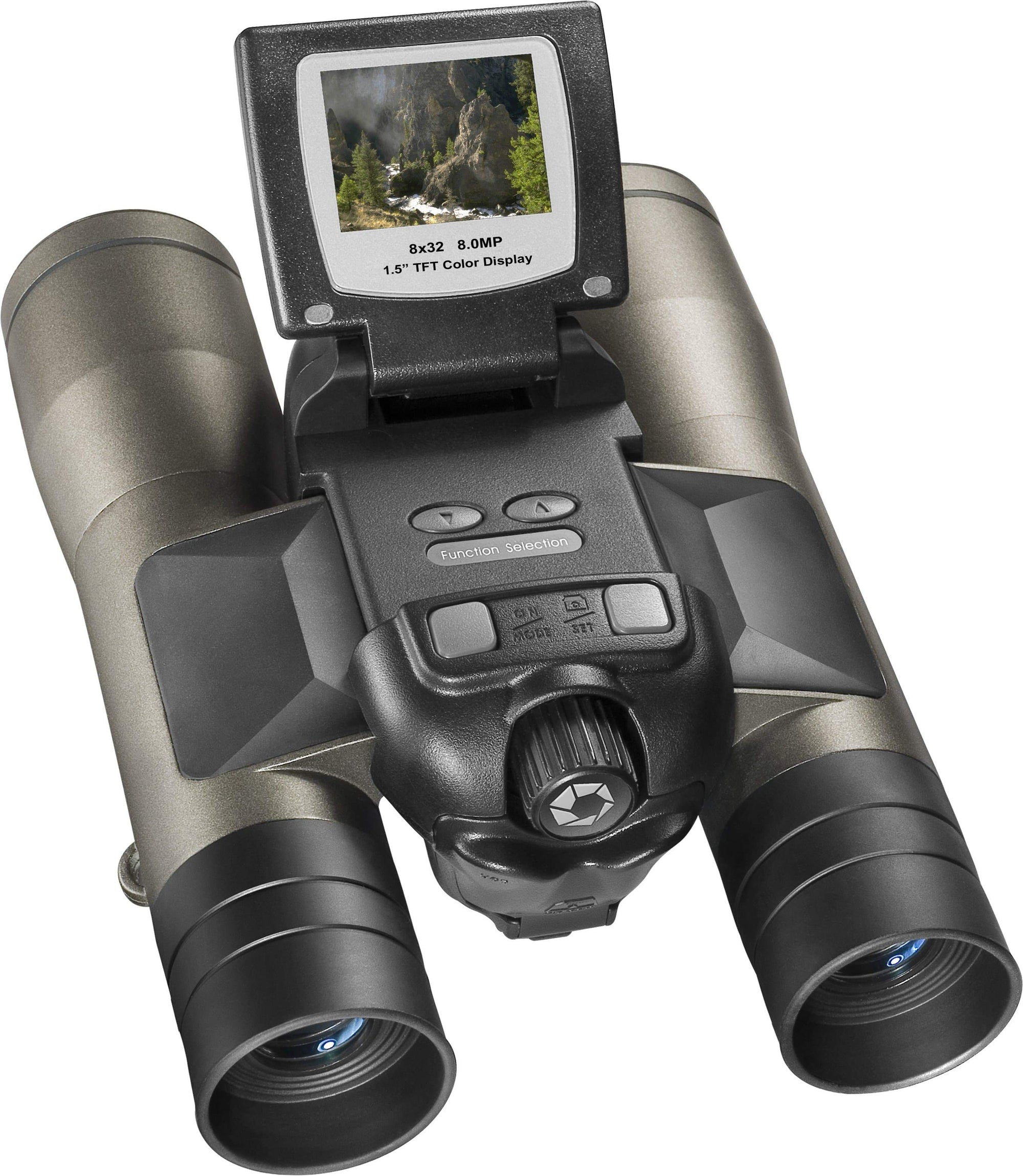 Barska 8 x 32mm Point 'n View 8.0MP Binoculars and Camera Armadillo Safe and Vault