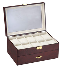 Diplomat 31-57914 Burl Wood Finish Ten Watch Case