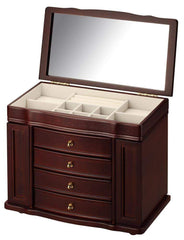 Diplomat 31-442 Cherry Wood Finish Jewelry Chest