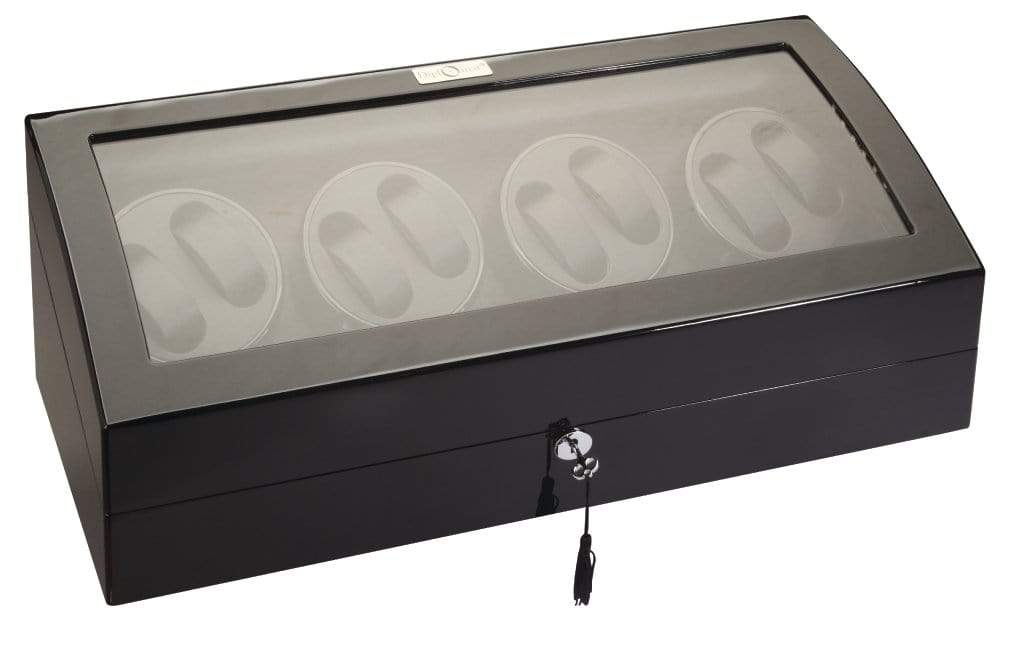 Diplomat 34-514 Phantom LED Lit Black Wood Finish Eight Watch Winder