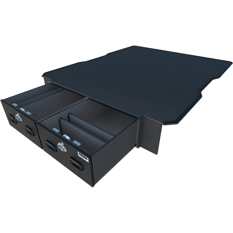 EXTREME TruckVault Mid size PICKUP (<44 wide) 2 drawer Armadillo Safe and Vault