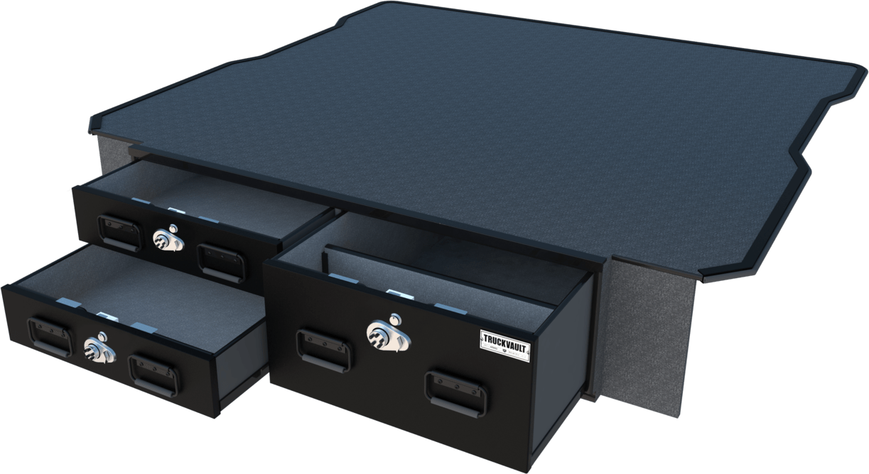 Field Ranger TruckVault Chevrolet Silverado (2019 - Current) 2 Drawers Armadillo Safe and Vault