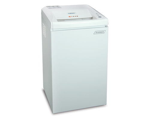 Formax FD 8302SC Deskside Cross-Cut Shredder Armadillo Safe and Vault