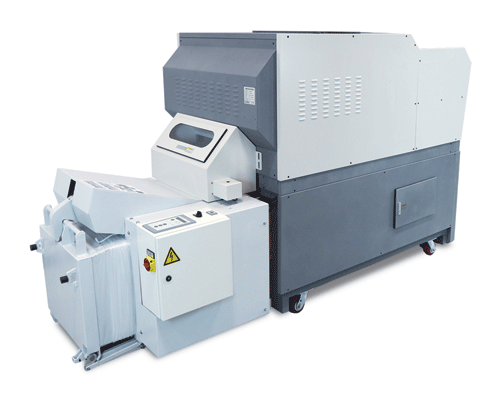 Formax FD 8906B Industrial Conveyor Shredder and Baler, Cross-Cut Armadillo Safe and Vault
