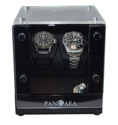 Pangaea D320 Double Automatic Watch Winder (Battery or AC Powered) Armadillo Safe and Vault