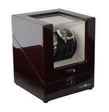 Pangaea D510 Double Watch Winder with LED Lights - Mahogany Armadillo Safe and Vault
