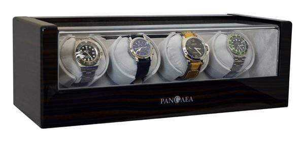 Pangaea Q480 Quad Automatic Watch Winder (Dark Gloss Cherrywood) Armadillo Safe and Vault