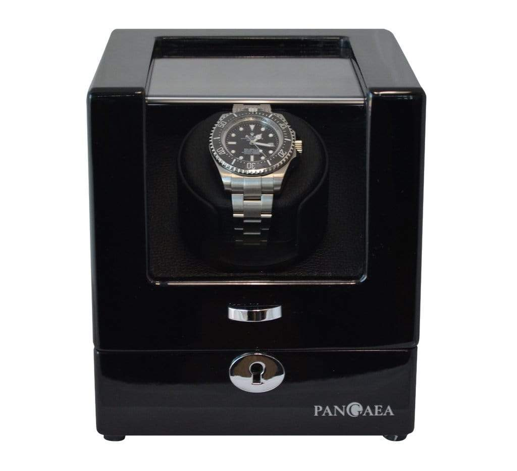 Pangaea S310 Single Watch Winder (Battery or AC Powered) Armadillo Safe and Vault
