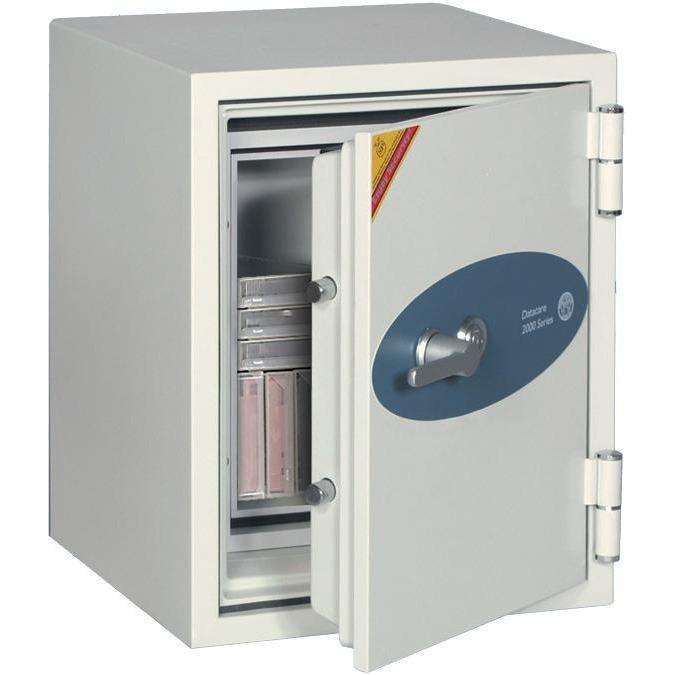 Phoenix 2002 Datacare 2-Hour Key Lock Fireproof Media Safe 0.58 cu ft Armadillo Safe and Vault