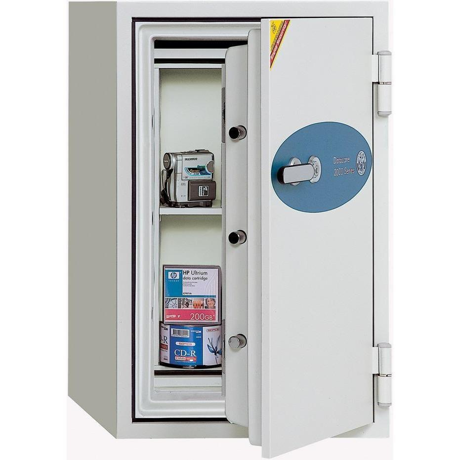 Phoenix 2025 Datacare 1.5-Hour Key Lock Fireproof Media Safe 1.22 cu ft Armadillo Safe and Vault