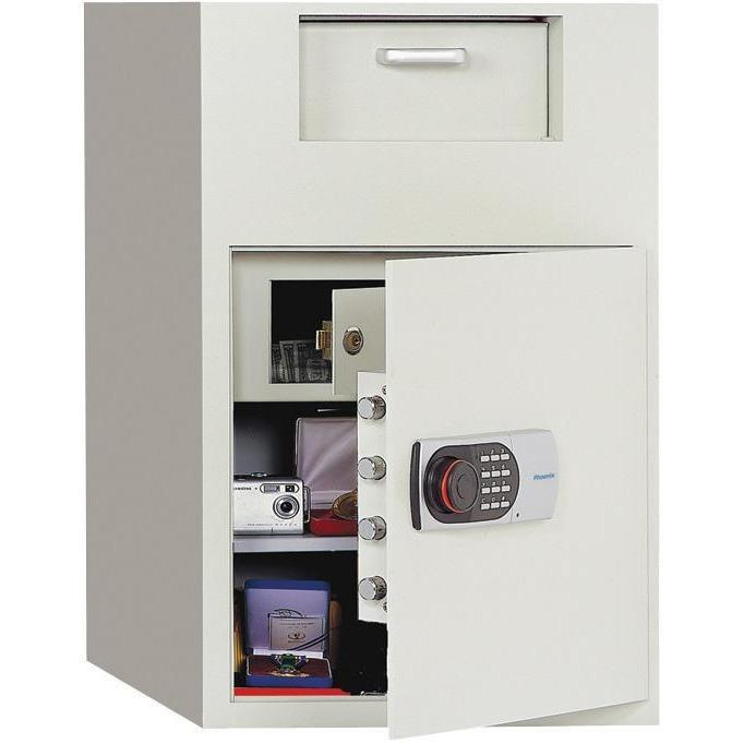 Phoenix 992E Front Loading Digital Lock Depository Safe with Inner Locking Door 3.48 cu ft Armadillo Safe and Vault