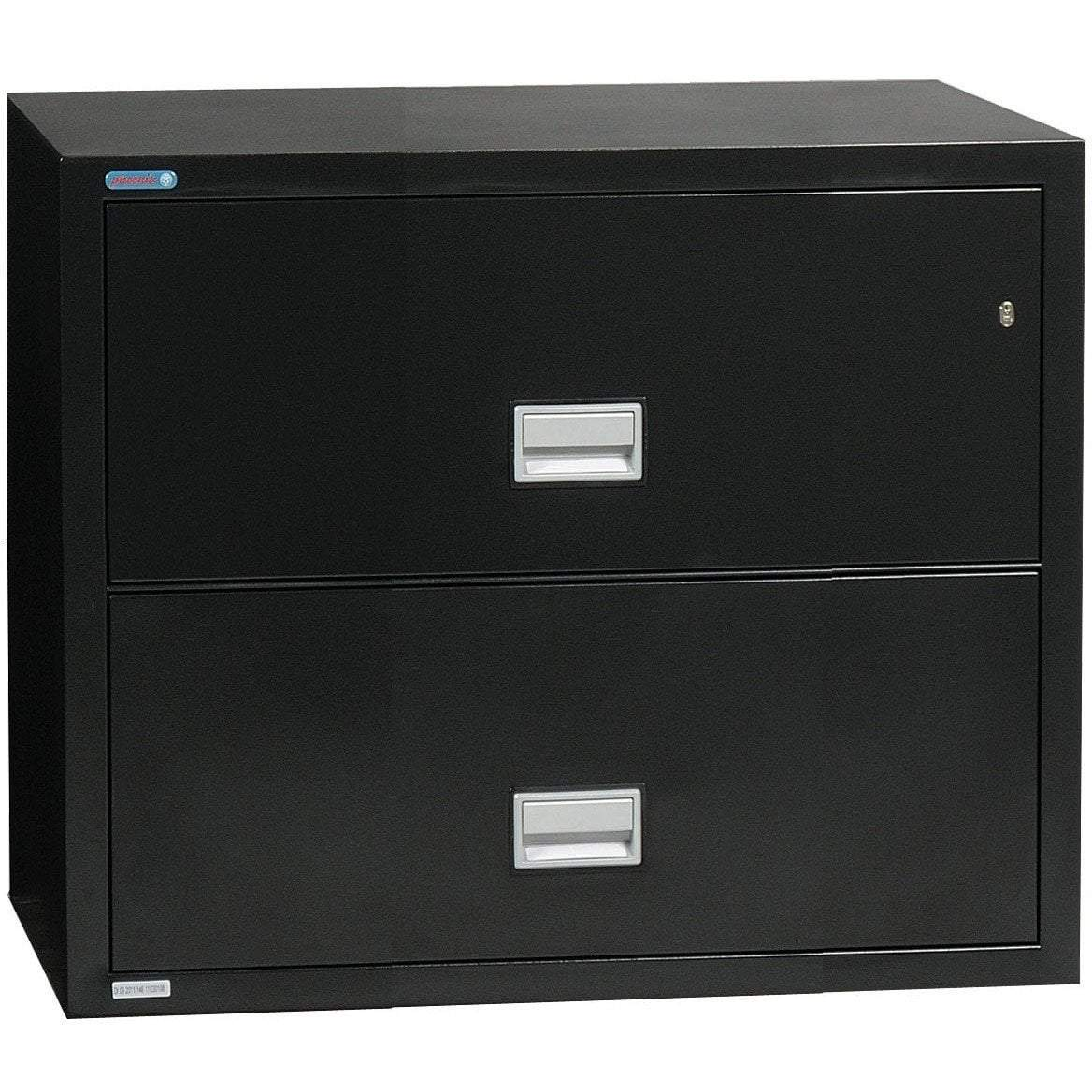Phoenix LAT2W31 Lateral 31 inch 2-Drawer Fireproof File Cabinet Armadillo Safe and Vault