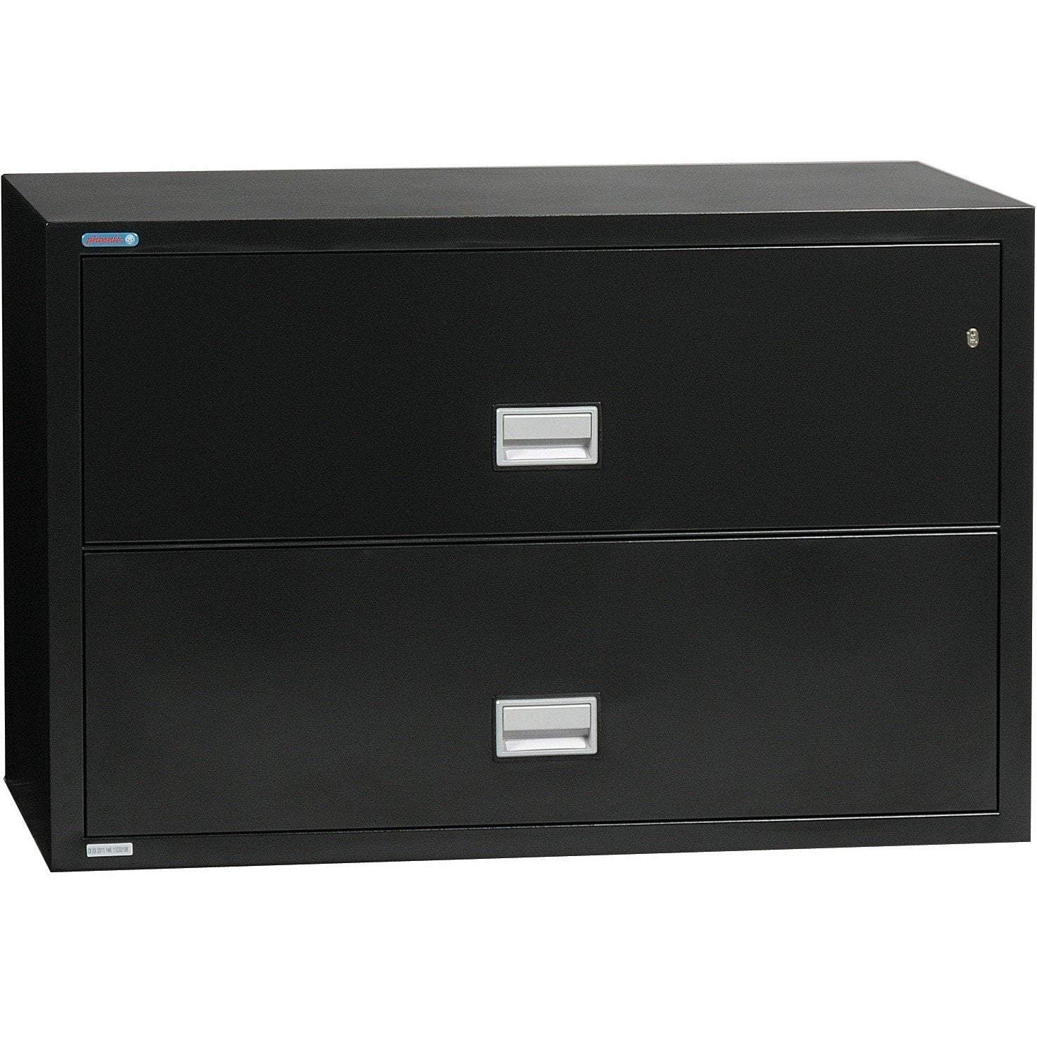 Phoenix LAT2W44 Lateral 44 inch 2-Drawer Fireproof File Cabinet Armadillo Safe and Vault