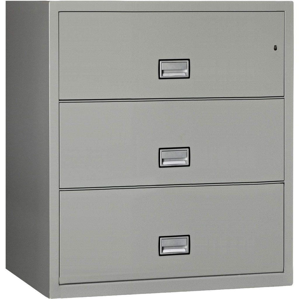 Phoenix LAT3W38 Lateral 38 inch 3-Drawer Fireproof File Cabinet Armadillo Safe and Vault