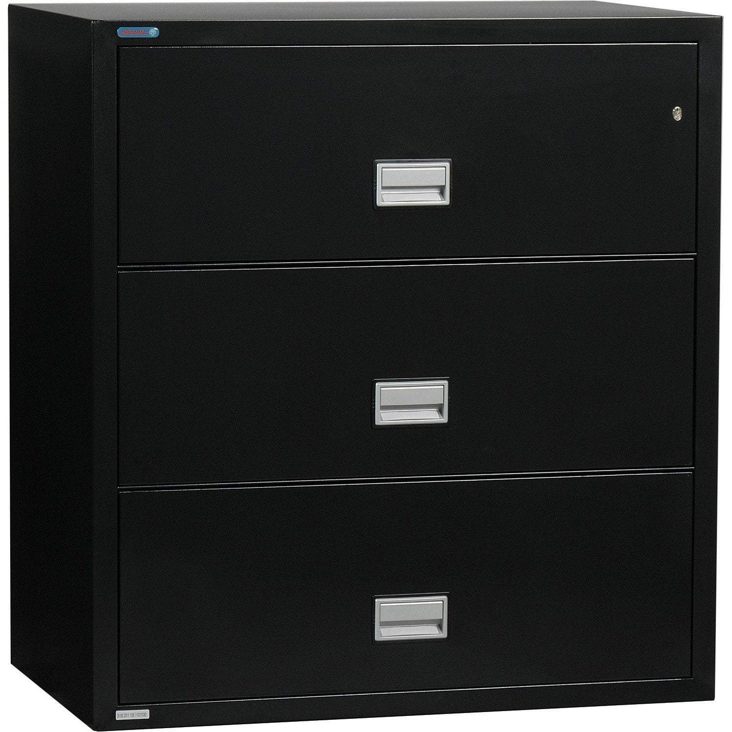Phoenix LAT3W44 Lateral 44 inch 3-Drawer Fireproof File Cabinet Armadillo Safe and Vault