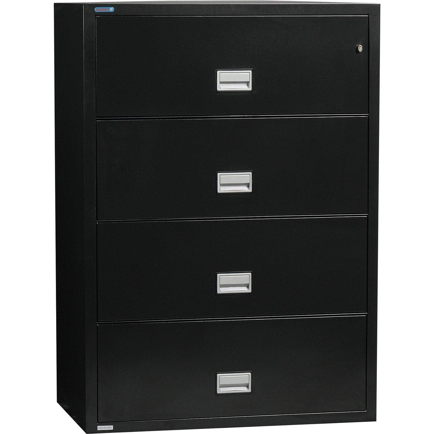 Phoenix LAT4W38 Lateral 38 inch 4-Drawer Fireproof File Cabinet Armadillo Safe and Vault