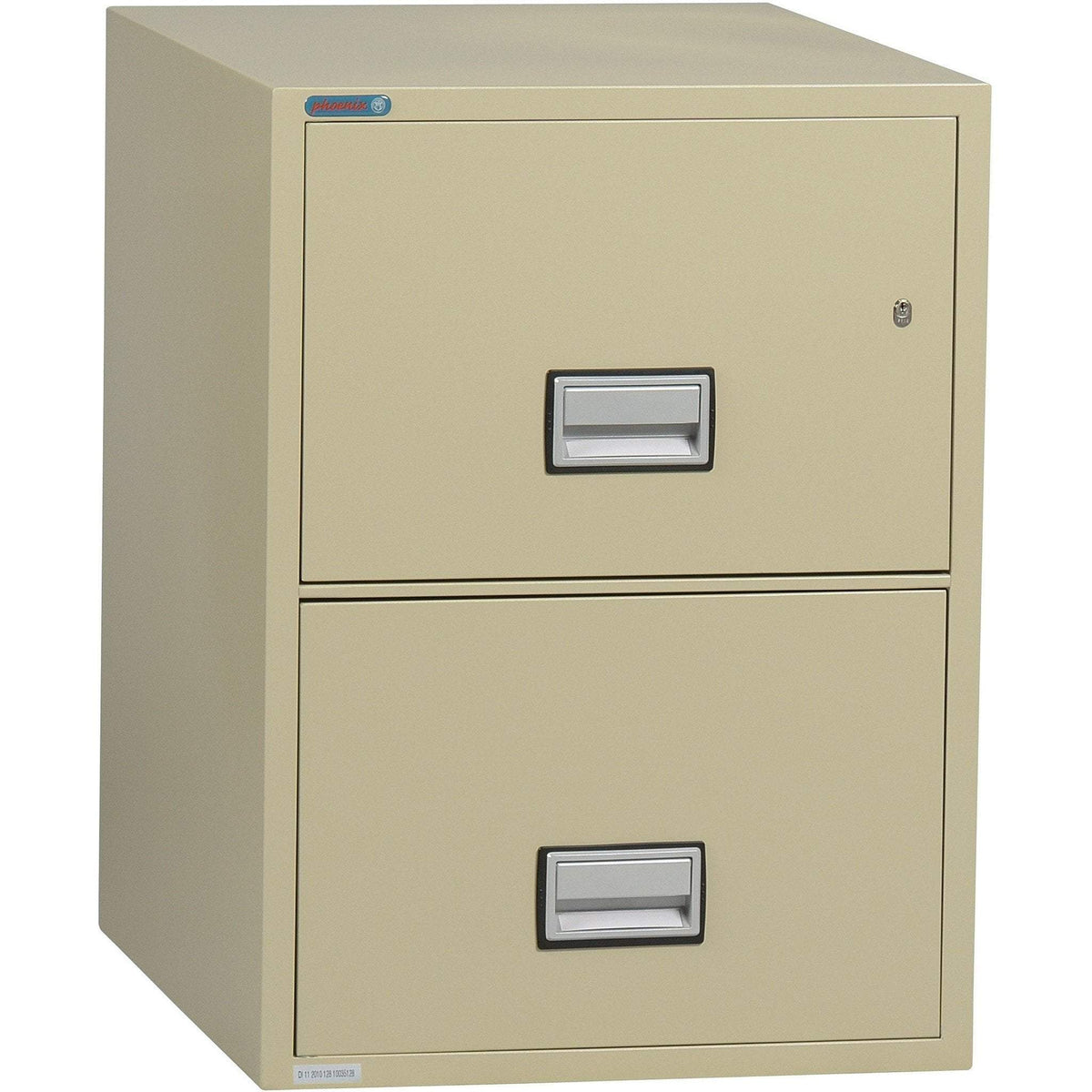 Phoenix LGL2W25 Vertical 25 inch 2-Drawer Legal Fireproof File Cabinet Armadillo Safe and Vault