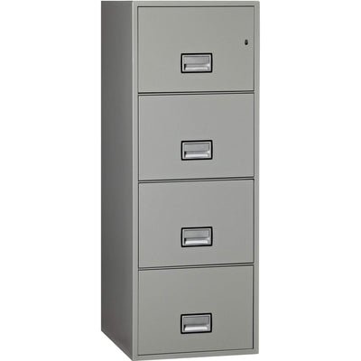 Phoenix LGL4W25 Vertical 25 inch 4-Drawer Legal Fireproof File Cabinet Armadillo Safe and Vault