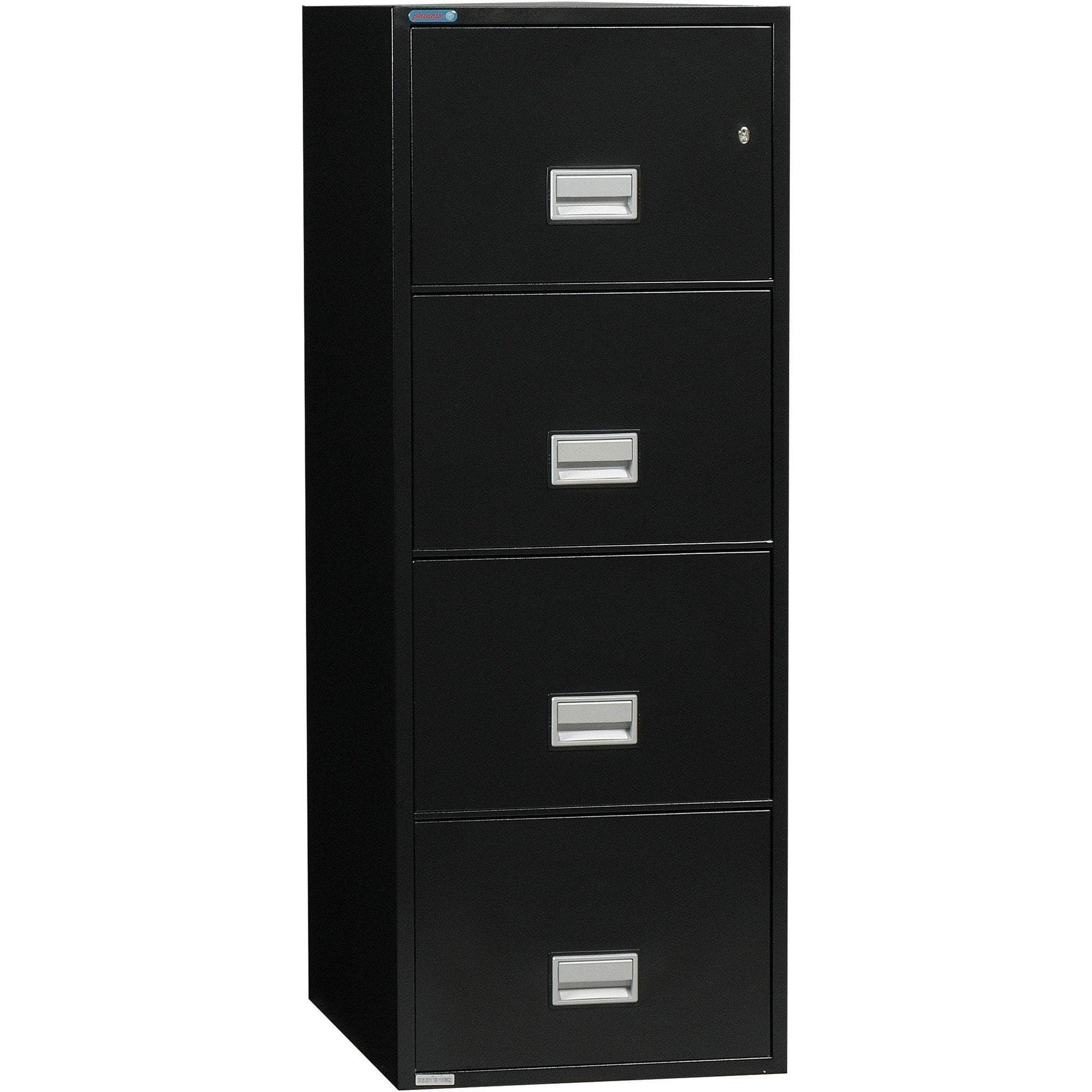 Phoenix LTR4W31 Vertical 31 inch 4-Drawer Letter Fireproof File Cabinet Armadillo Safe and Vault