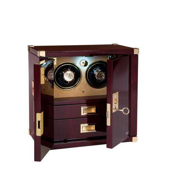 Rapport London 2 Watch Mariner's Chest Mahogany Watch Winder Armadillo Safe and Vault
