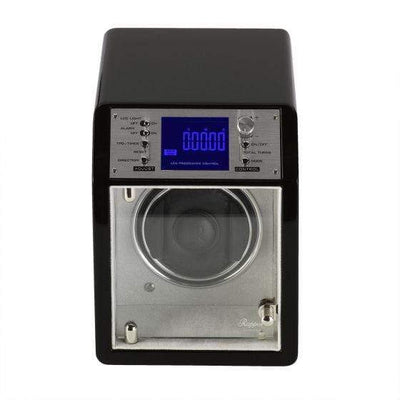 Rapport London Cosmic Single Ebony Watch Winder Armadillo Safe and Vault