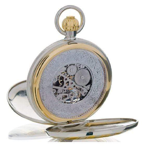 Rapport London Double Opening Full Hunter bi-colour Pocket Watch Armadillo Safe and Vault