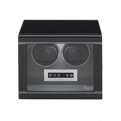 Rapport London Formula Double Watch Winder Carbon Fibre Armadillo Safe and Vault
