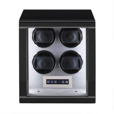 Rapport London Formula Quad Watch Winder Black Armadillo Safe and Vault