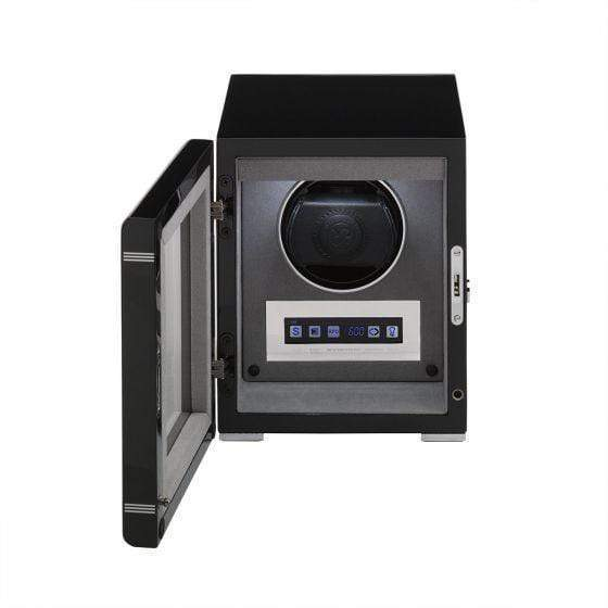 Rapport London Formula Single Watch Winder Black Armadillo Safe and Vault