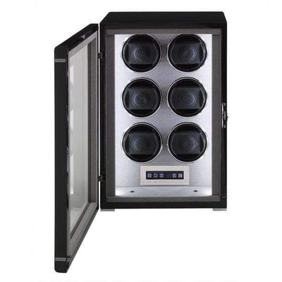 Rapport London Formula Six Watch Winder Black Armadillo Safe and Vault