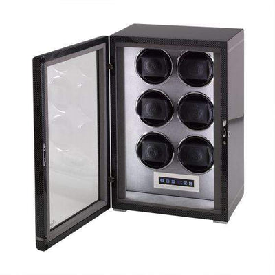 Rapport London Formula Six Watch Winder Carbon Fibre Armadillo Safe and Vault