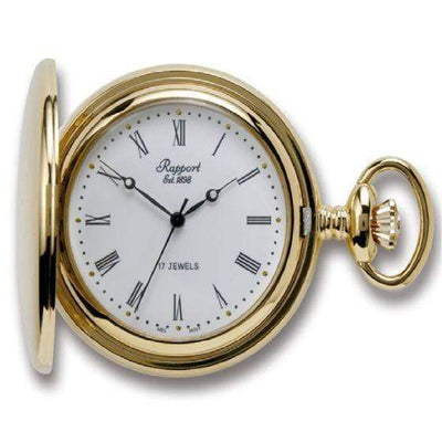 Rapport London Full Hunter Gold Pocket Watch Armadillo Safe and Vault