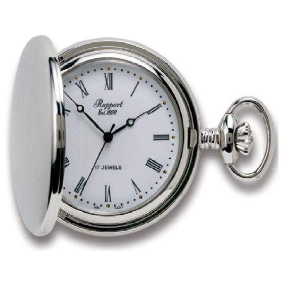 Rapport London Full Hunter Silver Pocket Watch Armadillo Safe and Vault