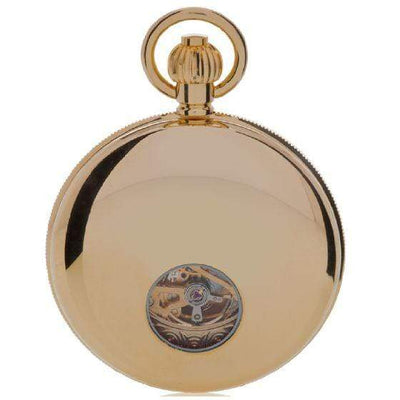 Rapport London Mechanical Half Hunter Gold Plated Pocket Watch Armadillo Safe and Vault