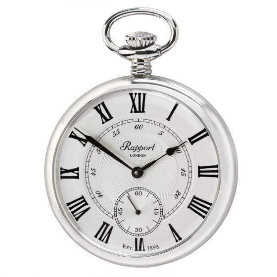 Rapport London Mechanical Open Face Silver Tone Pocket Watch Armadillo Safe and Vault