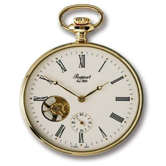 Rapport London Open Face Gold Plated Pocket Watch Armadillo Safe and Vault
