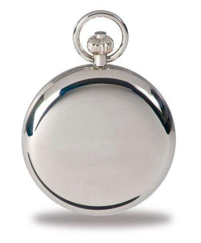 Rapport London Open Face Silver Plated Pocket Watch Armadillo Safe and Vault