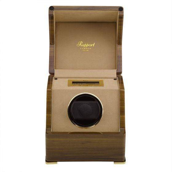 Rapport London Perpetua III Single watch Winder Touch Screen Walnut Armadillo Safe and Vault