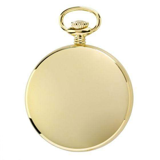 Rapport London Quartz Open Face Gold Plated Pocket Watch Armadillo Safe and Vault