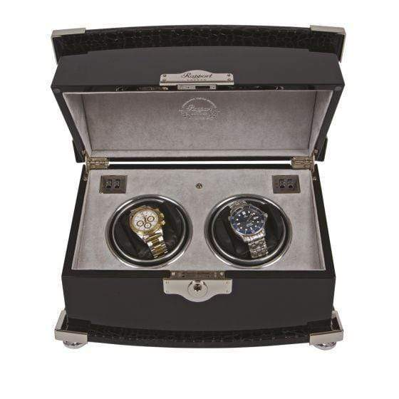 Rapport London Serpentine Duo Watch Winder Armadillo Safe and Vault
