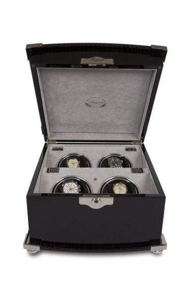Rapport London Serpentine Quad Watch Winder Armadillo Safe and Vault
