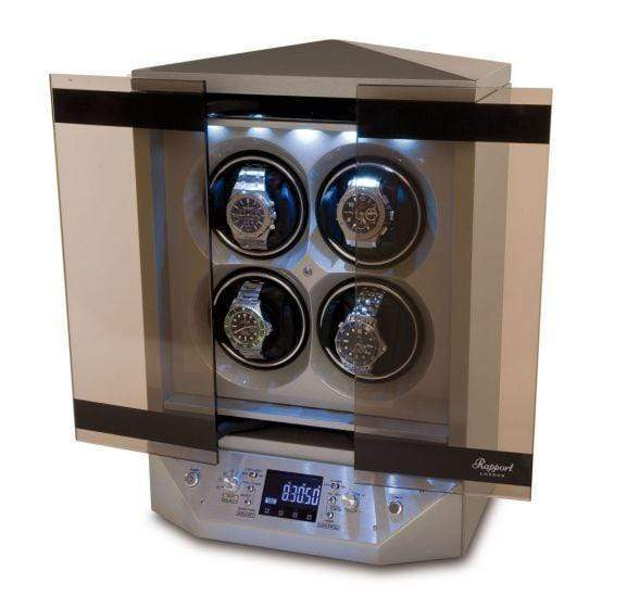 Rapport London Templa Silver Watch Winder Armadillo Safe and Vault