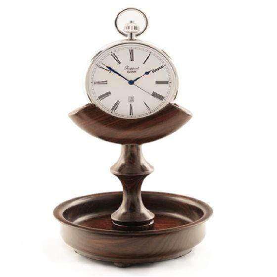 Rapport London Triangle Walnut Pocket Watch Stand Armadillo Safe and Vault